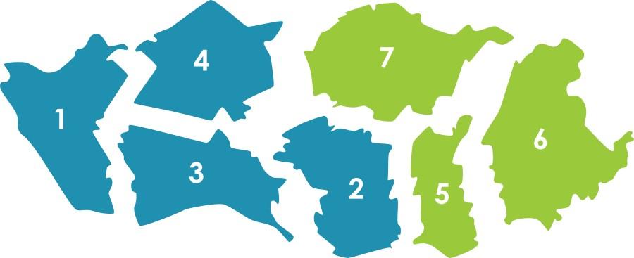 Mapa da área de intervenção do ACeS Porto Ocidental