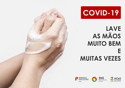 COVID-19 Lavar as mãos