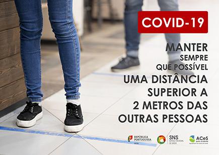 COVID-19 Manter o distanciamento de 2 metros