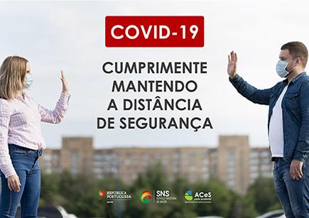 COVID-19 Cumprimentar mantendo o distânciamento