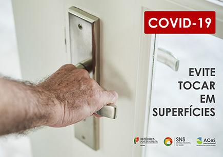 COVID-19 Evitar tocar em superfícies