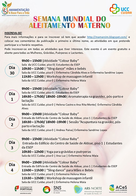 Semana Mundial do Aleitamento Materno 2019 - UCC Cuidar