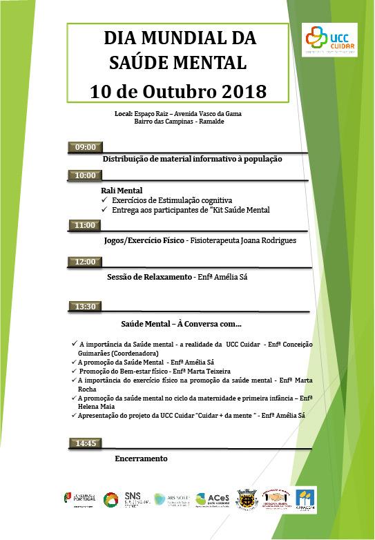 Dia Mundial da Saúde Mental - poster 2018