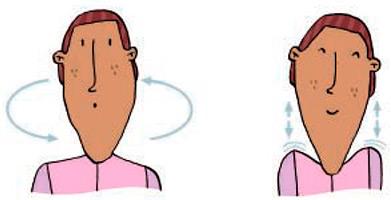 Dor cervical. Cervicalgia - exercícios